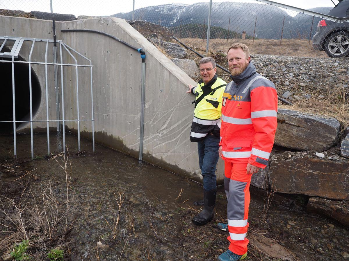 <p></p><p>Roald Boge i Pipelife og Petter Storødegård i Statens vegvesen.</p>