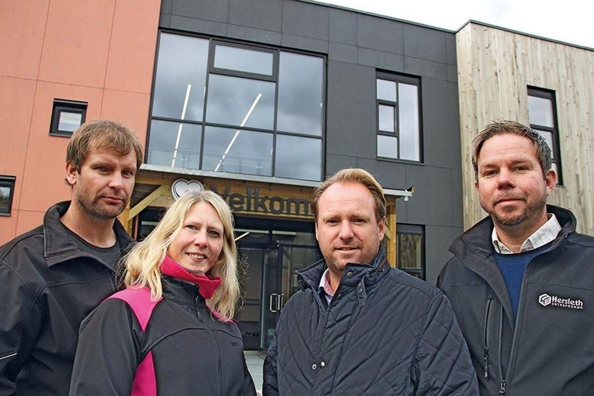 Anders Paulsboe, Inger Johanne Velde, Reinert Hersleth og Øistein Røtne er alle fornøyd med prosjektet.