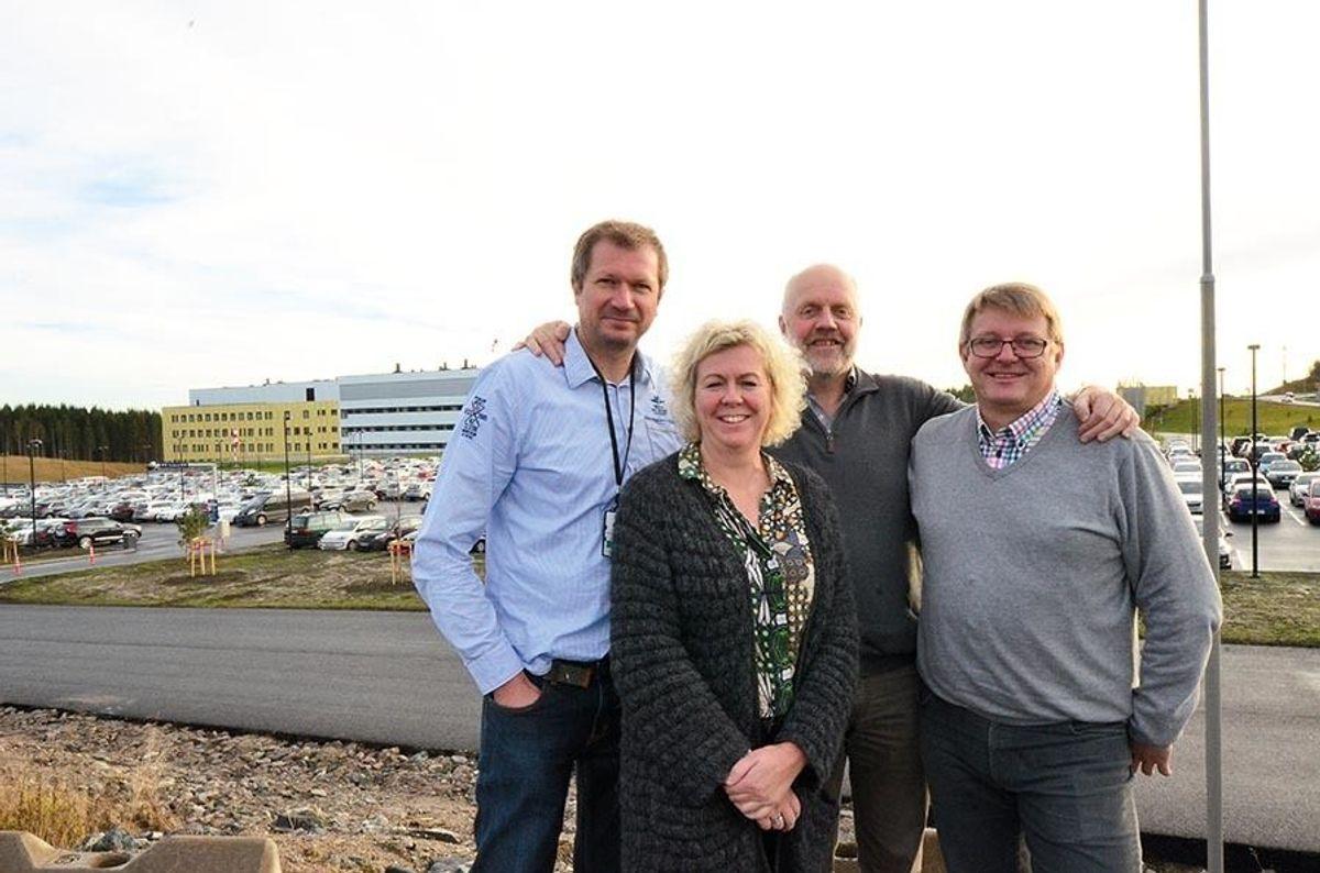 Kim Østenby (f.v.), Nina Kristiansen, Dag Bøhler og Kai Martin Lunde.