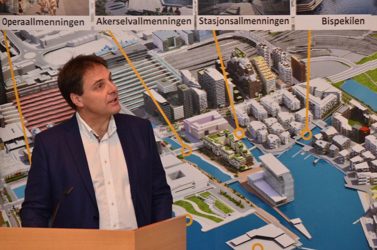Daglig leder i Bjørvika Utvikling, Geir Lynnebakken.