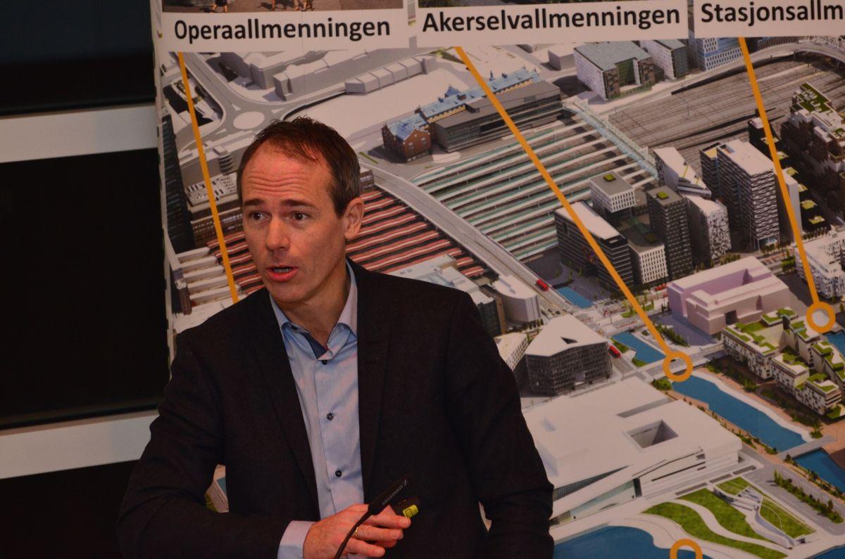 Brukerkoordinator Henrik Svalheim i det nye Munchmuseet.