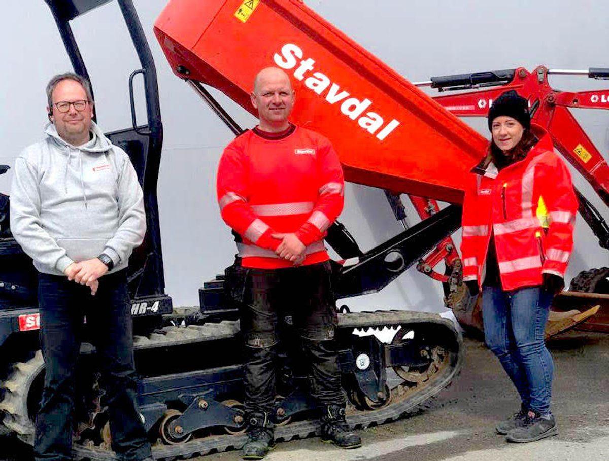 De ansatte ved Loxam i Trondheim er nå en del av Stavdal AS som skal satse tungt både i Oslo, Bergen og Trondheim. Foto: Stavdal