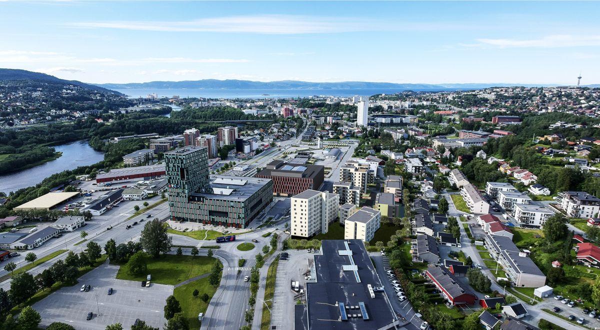 Tidlig perspektiv av Trondheimsporten 2. Illustrasjon: Voll arkitekter