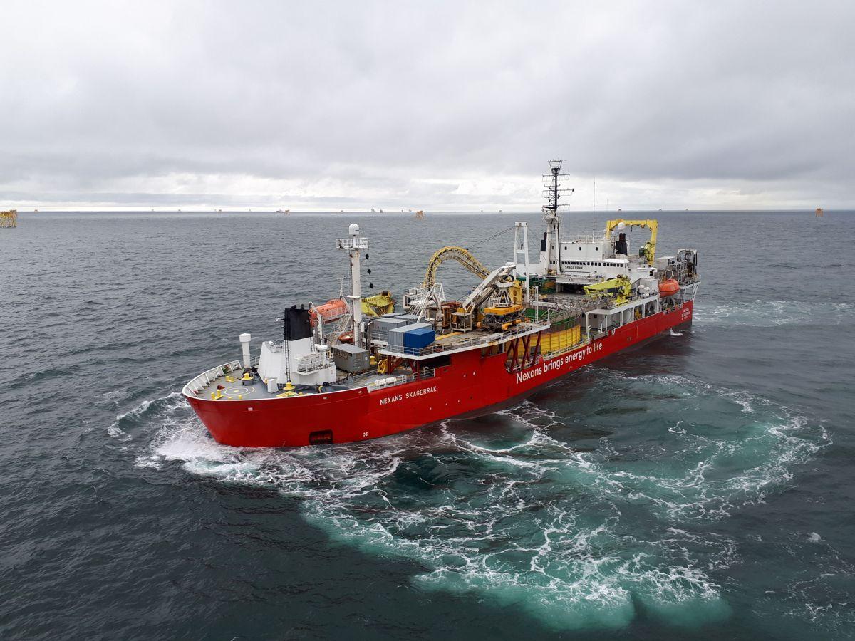 Nexans Skagerak skal legge kabelen til havs. Foto: Statnett