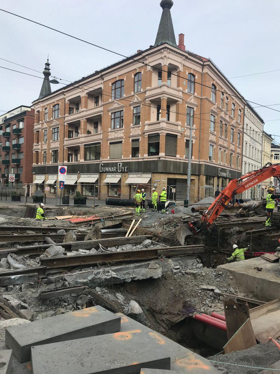 HAB Construction er hovedentreprenør for Sporveiens store infrastukturprosjekt på Majorstuen. Svanhild Blakstad