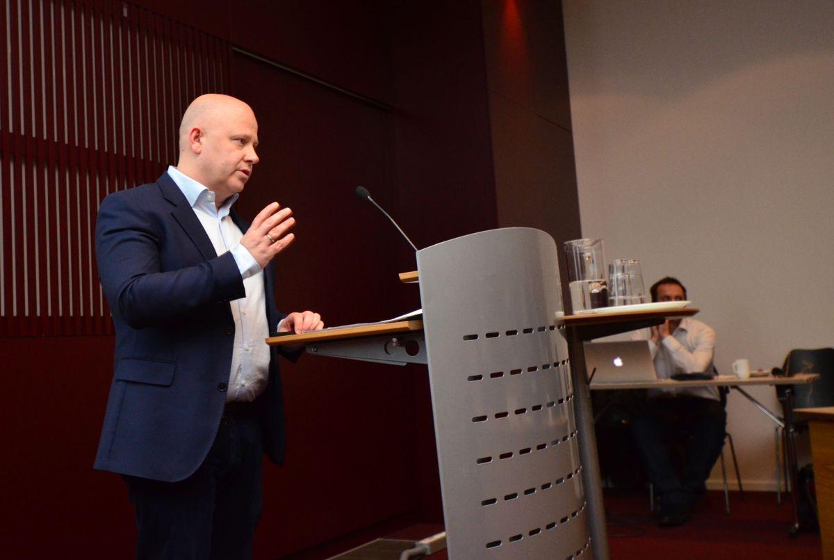 Administrerende direktør Baard Schumann understreket hvor viktig koblingen til infrastruktur er for boligutviklere.