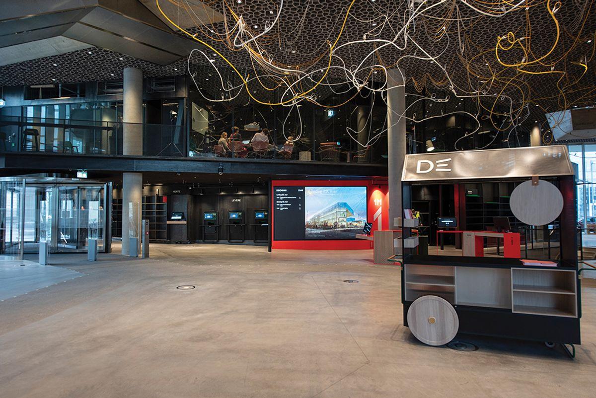 Deichman Bjøvika, fotodato10.3.20120 Foto: Trond Joelson, Byggeindustrien