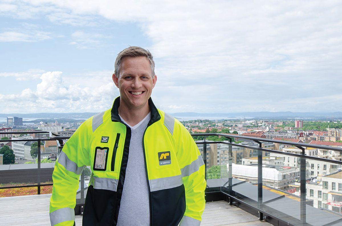 Prosjekteringsleder Mikael Eide i AF Bygg Oslo