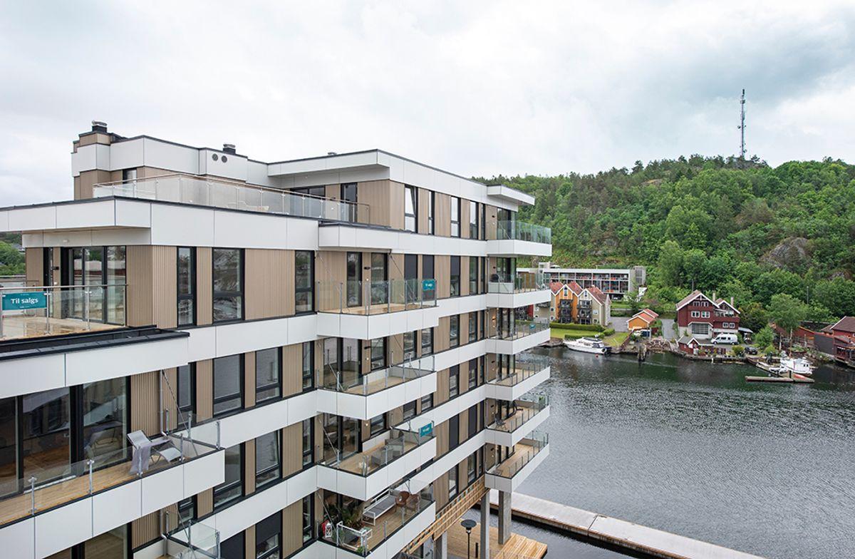 Nye Kilen Brygge i Sandefjord, 8.6.2020 Foto: Trond Joelson, Byggeindustrien