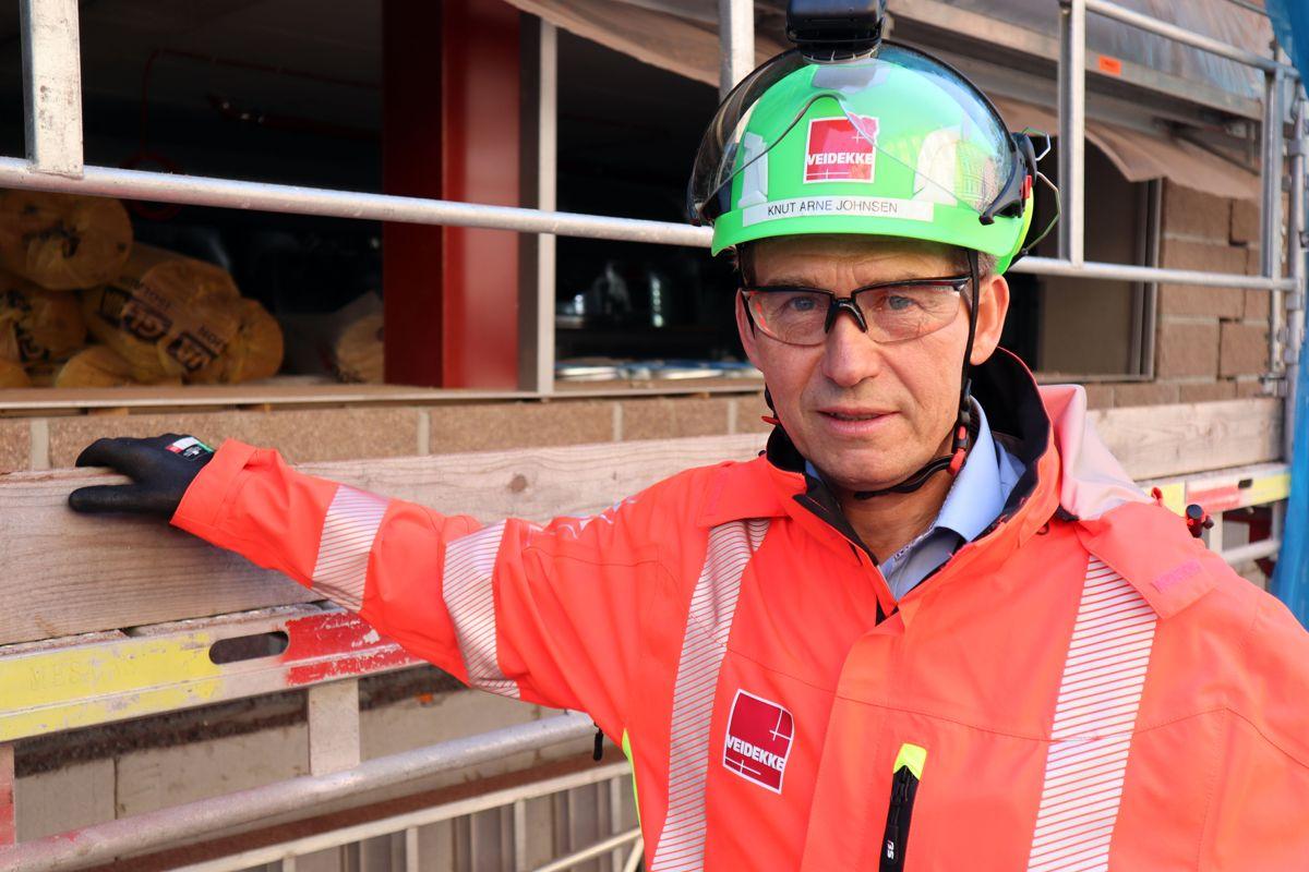 Sikkerhetssjef Knut Arne Johnsen i Veidekke. Foto: Svanhild Blakstad
