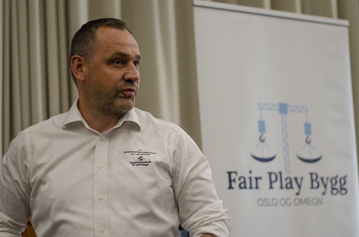 Styreleder Harald Hansen i Fair Play Bygg Oslo og omegn.