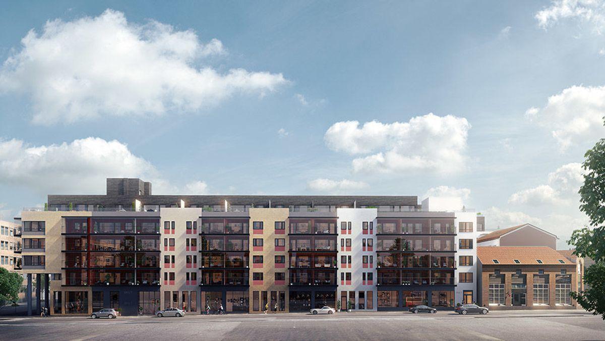 Slik vil området like ved Rådhuset i Drammen se ut når Bragernes Kvartal er ferdig utbygget høsten 2018. Ill: LINK Arkitektur