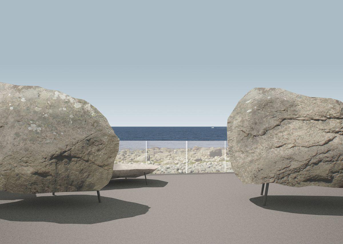 Hårr, Jæren. Utsiktspunkt i havkanten. Prosjektet startes opp i 2020 og fullføres i 2021. Arkitekt og illustrasjon: manthey kula as