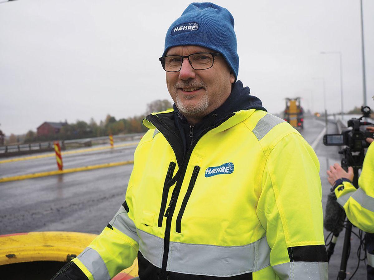 Gudmund Roen har vært Hæhre Entreprenørs prosjektleder for E6 Kolomoen-Arnkvern.