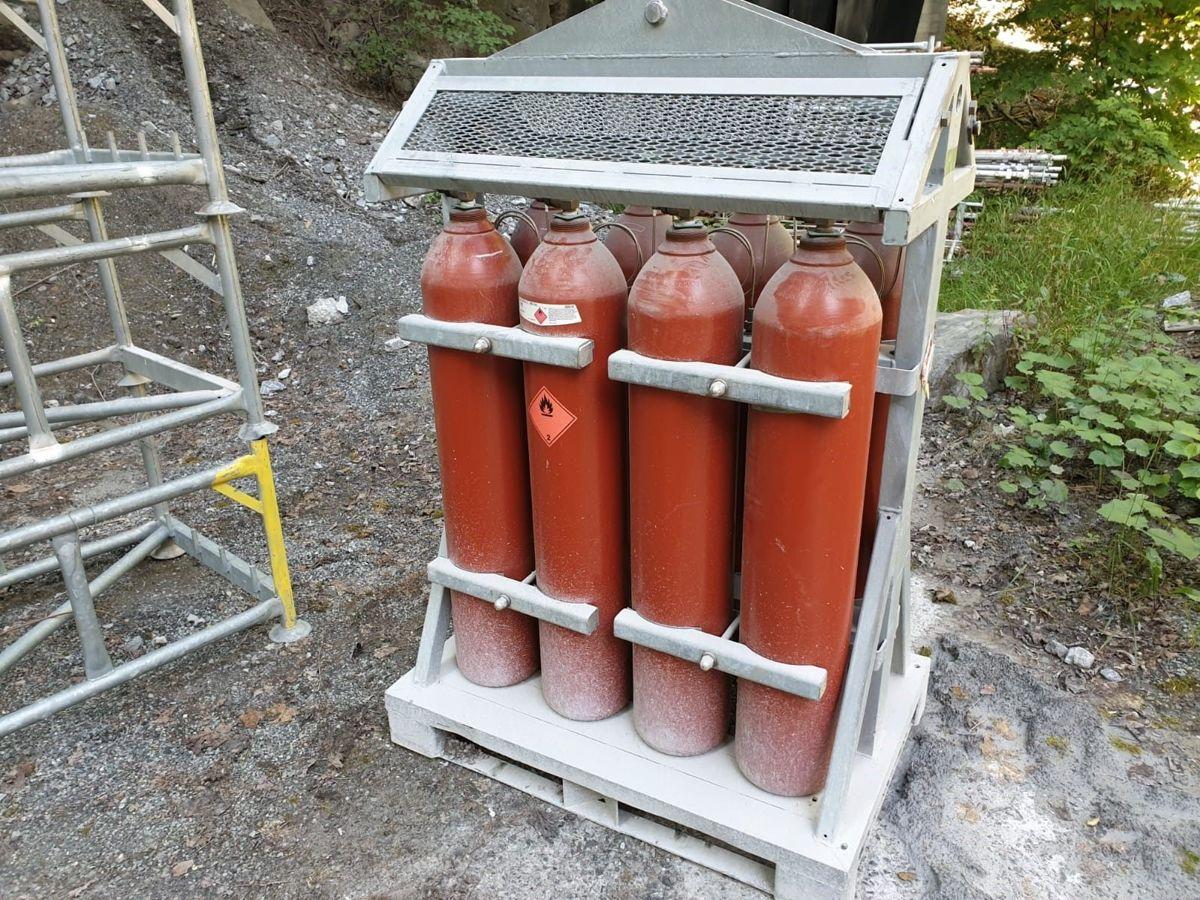 Sikkerhetsventilene i gassbatteriet stoppet utviklingen. Foto: Norcem