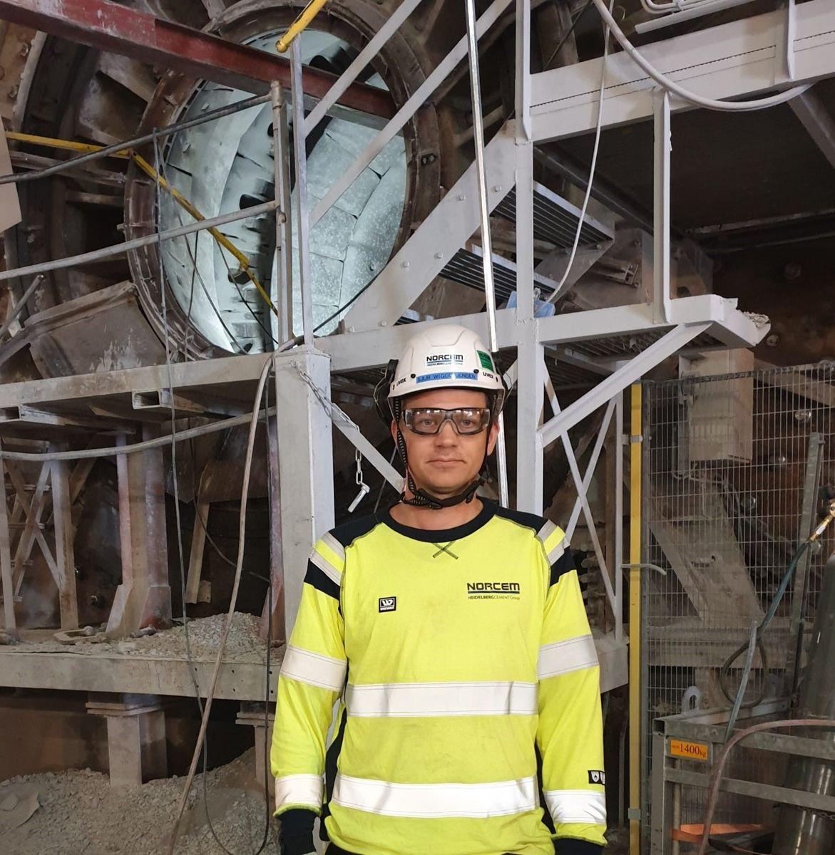 Fungerende fabrikksjef ved Norcem i Brevik, Sjur Viggo Jensen. Foto: Norcem