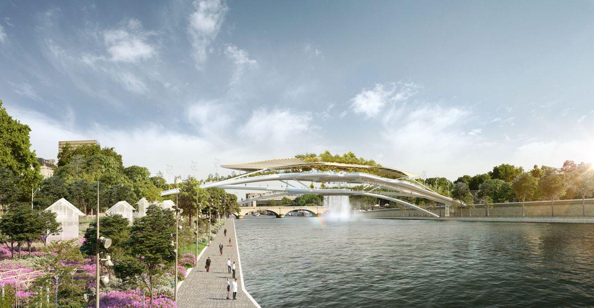 Babylon Bridge i Paris. Illustrasjon: Rescubika