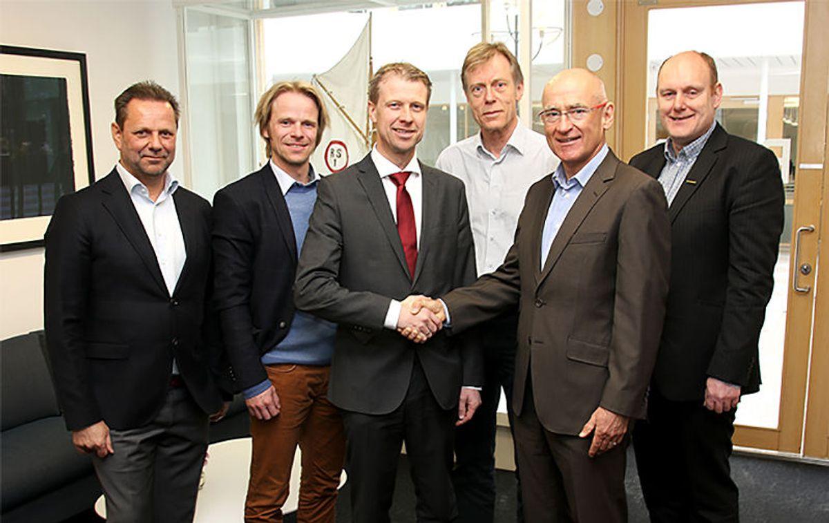 F.v.: Rolf Leistad, Eskil Thorkildsen, Jørgen Evensen, Per Volden, Martin Fuhr Bolstad, Pål Farmen.