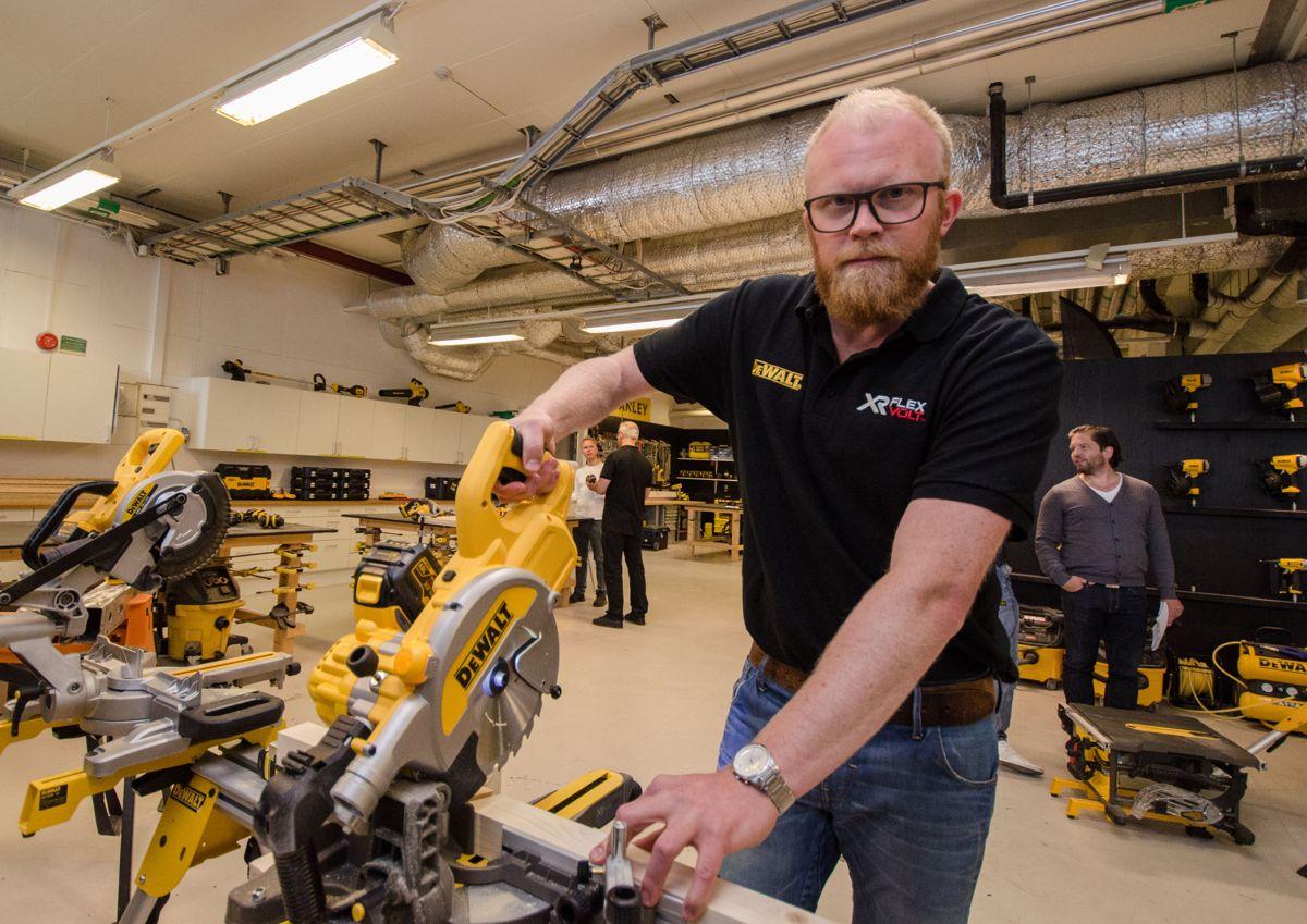 Produktsjef Mats Gustafsson i DeWalt i Sverige.