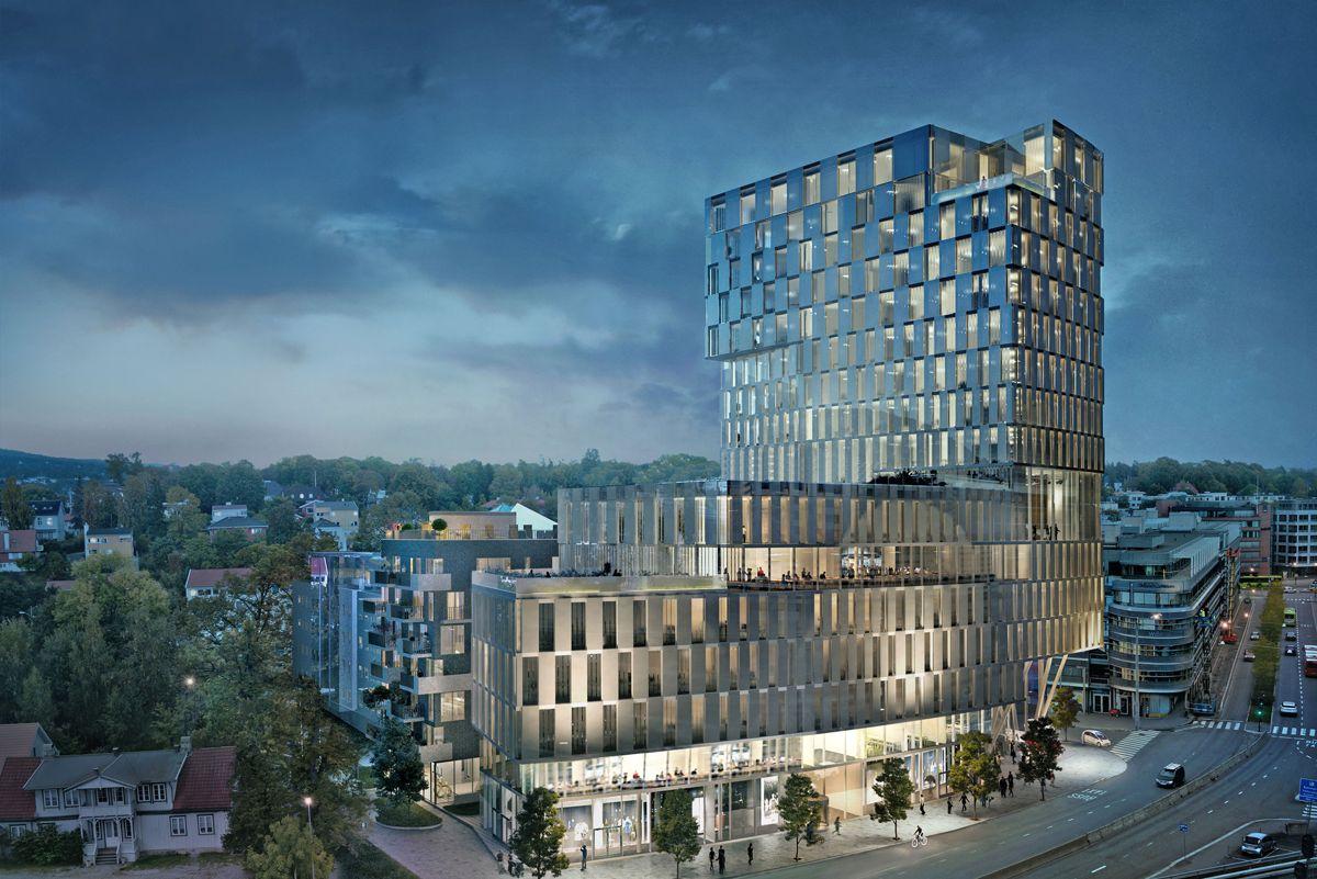 Orklas nye hovedkontor i Oslo. Arkitekt for begge nybygg: Narud Stokke Wiig (NSW)