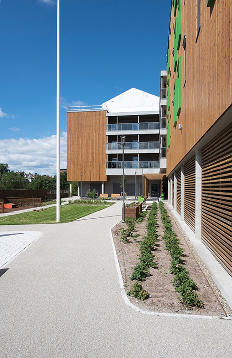Solfjellshøgda helsehus på Ryen i Oslo, 31.7.2020 Foto: Trond Joelson, Byggeindustrien
