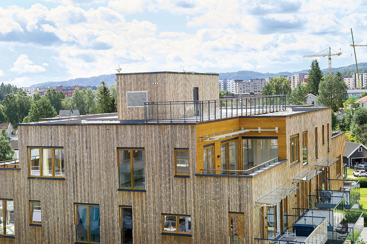 Solheimstunet 3 på Lørenskog, 29.6.2020. Foto: Trond Joelson, Byggeindustrien