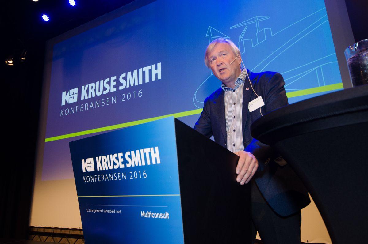 Konsernsjef Jan A. Hestås i Kruse Smith åpnet konferansen.