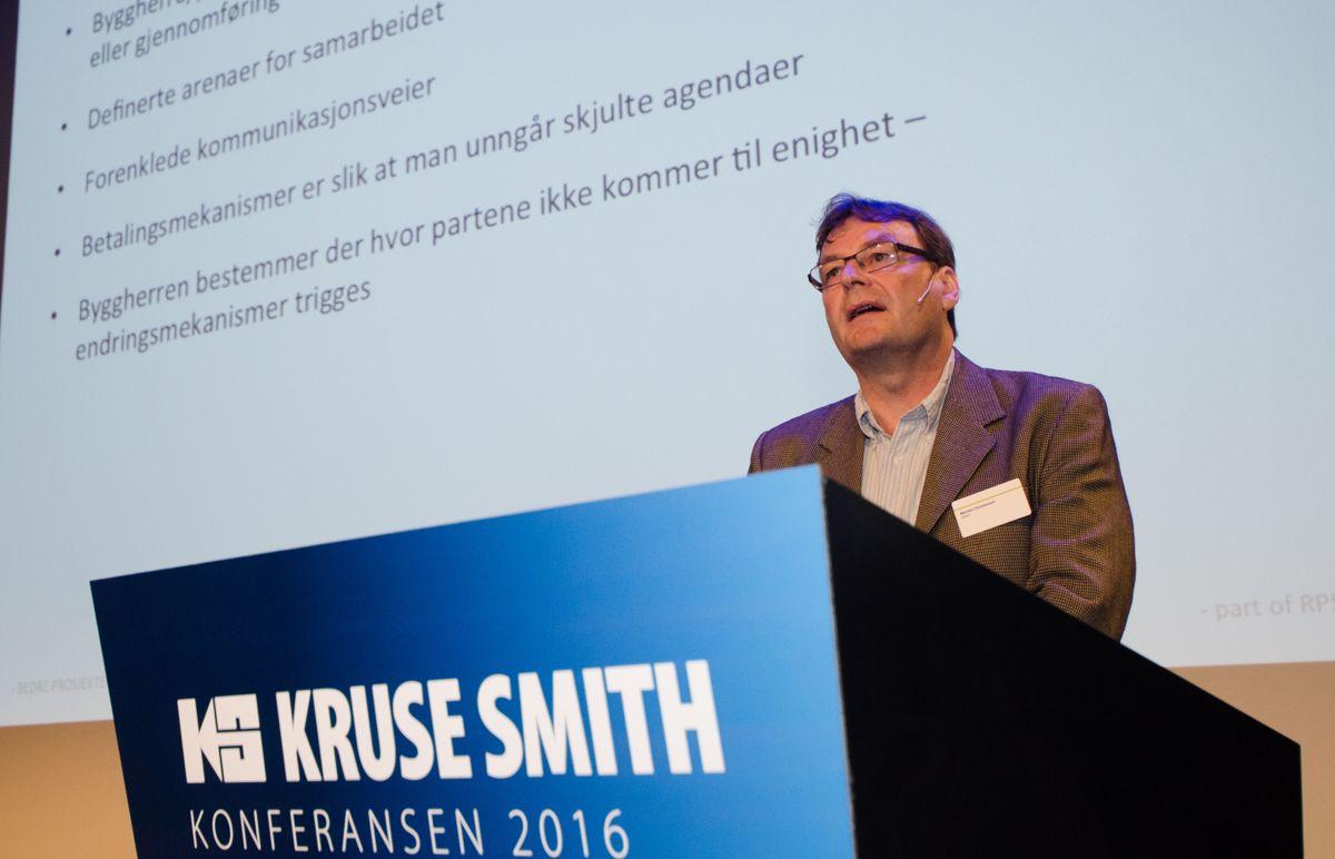 Morten Christensen i Metier snakket om viktigheten av samspill i prosjekter.