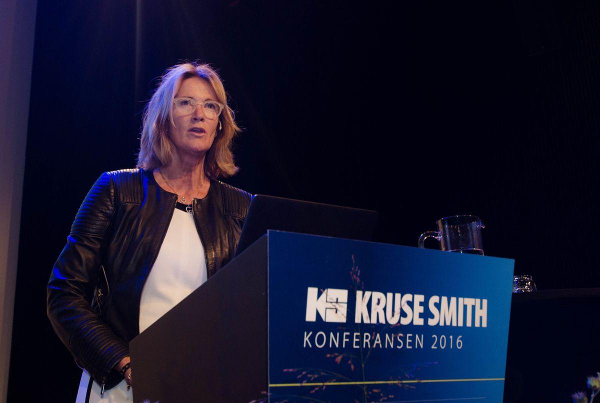Administrerende direktør i EBA, Kari Sandberg, fortalte om EBAs BIM-utvalg.