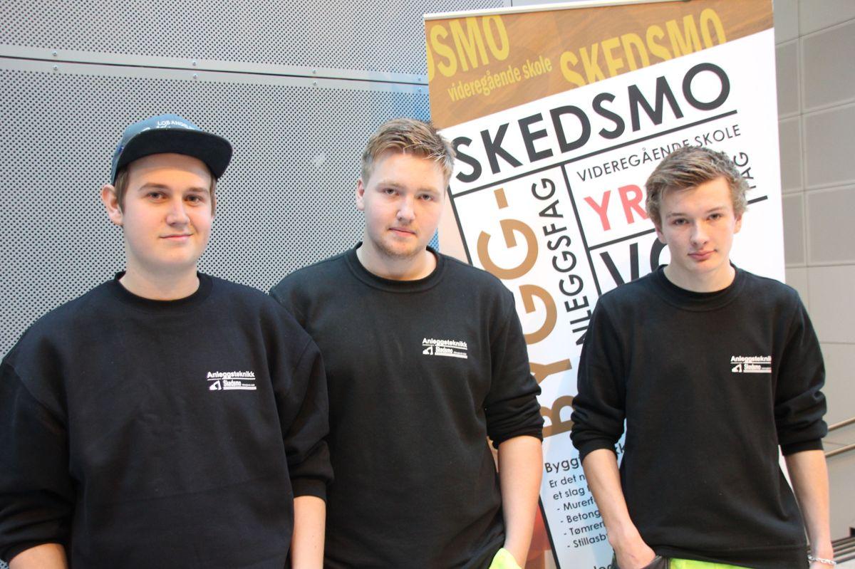 BYGGCAMP 2016: Lærlinger fra Anleggsteknikk på Skedsmo vgs sto på stand på Kuben yrkesarena. Foto: Svanhild Blakstad