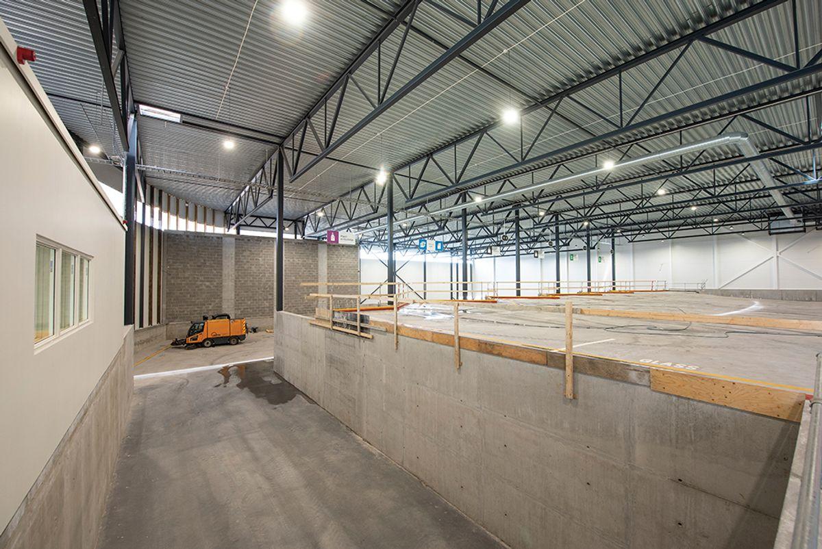 Kilden omlastningsstasjon i Hokksund, 20.8.2020 Foto: Trond Joelson, Byggeindustrien