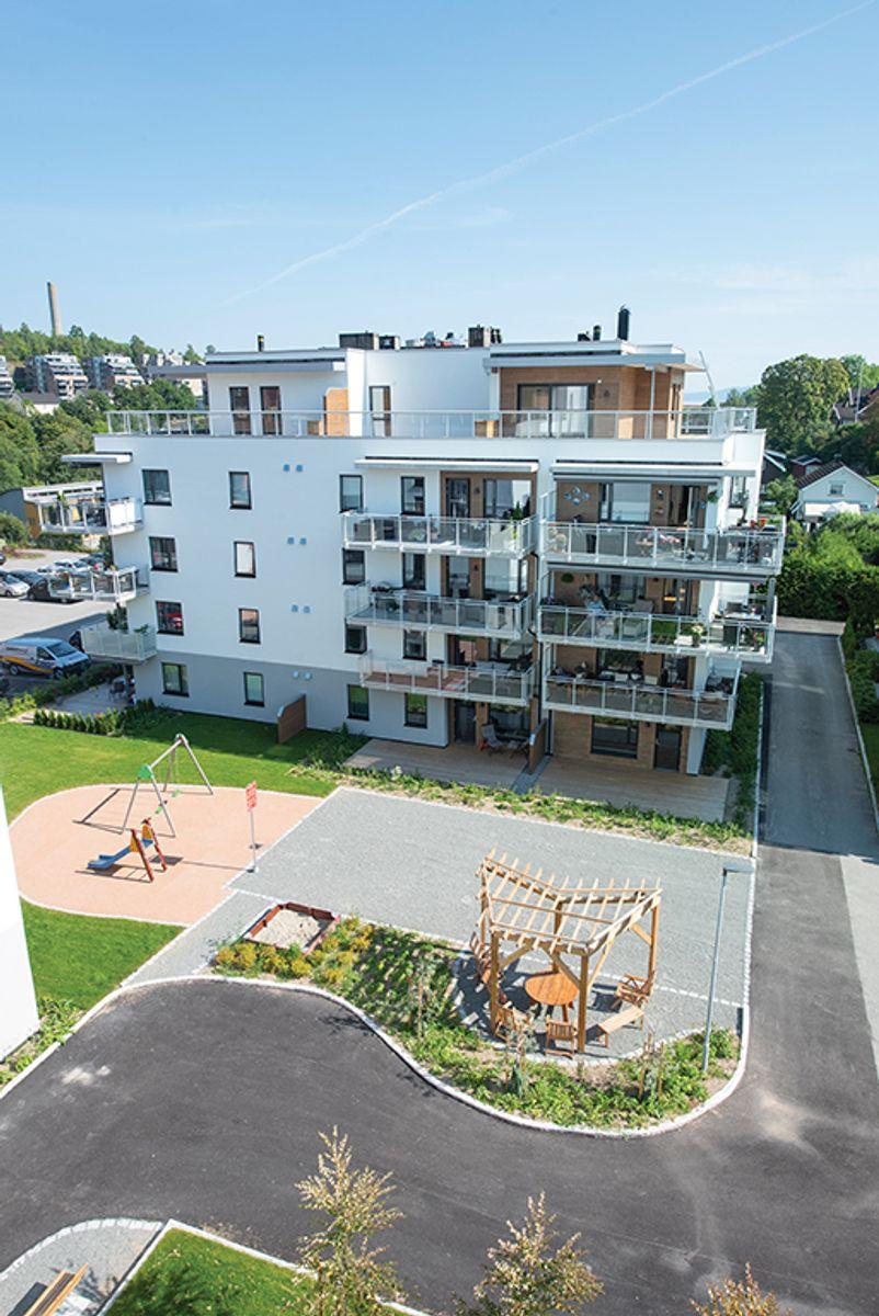Kirkealleen trinn 2 i Slemmestad, 12.8.2020. Foto: Trond Joelson, Byggeindustrien