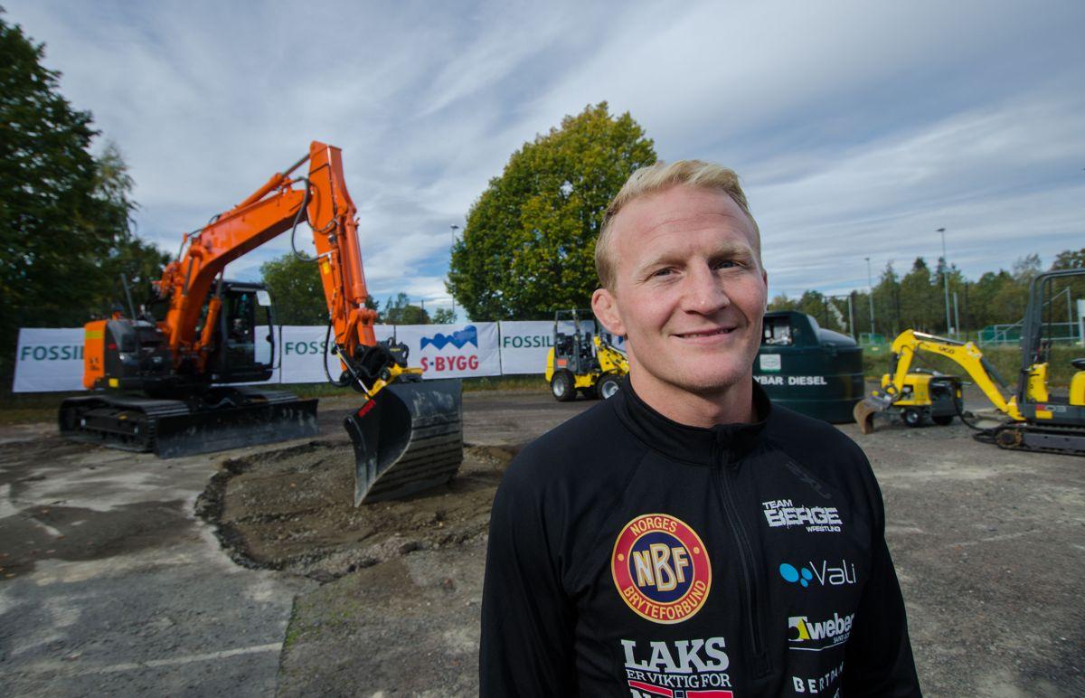 Bronsevinner Stig André Berge ser frem til å få et toppanlegg for bryting i Oslo.