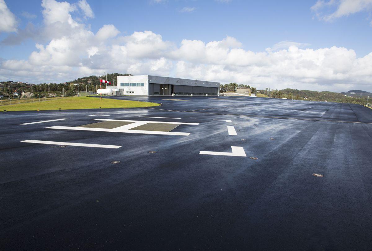 Helikopterbase åpner på haakonsvern, som vil bli base for 334 skvadron. Foto: Forsvarsbygg