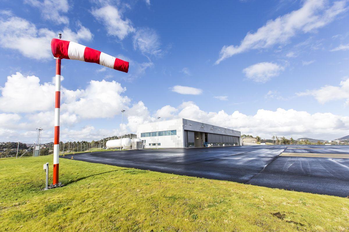 Helikopterbase for 334 skvadronen åpner på Haakonsvern. Det vil bli base for NH90, som vil operere på fregattene. Foto: Forsvarsbygg