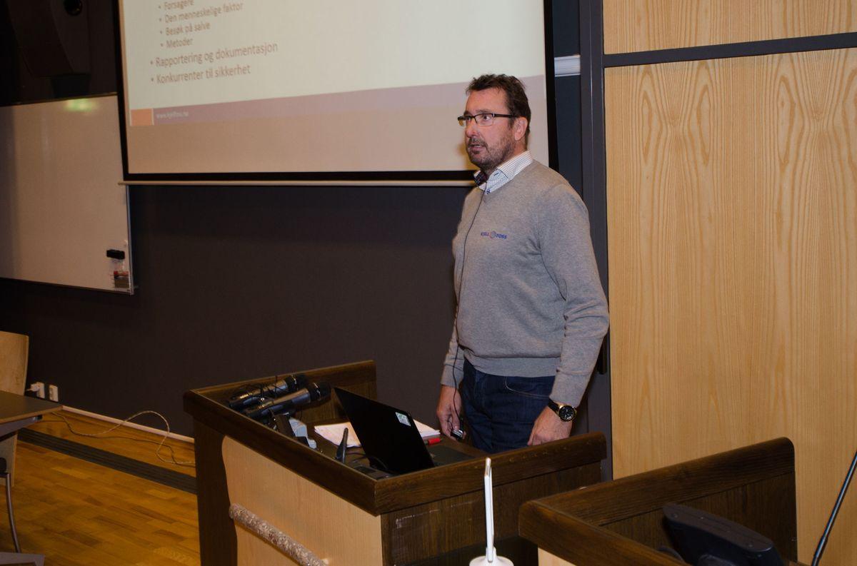 Odd Arne Grøvo, sikkerhetsleder i Kjell Foss AS.