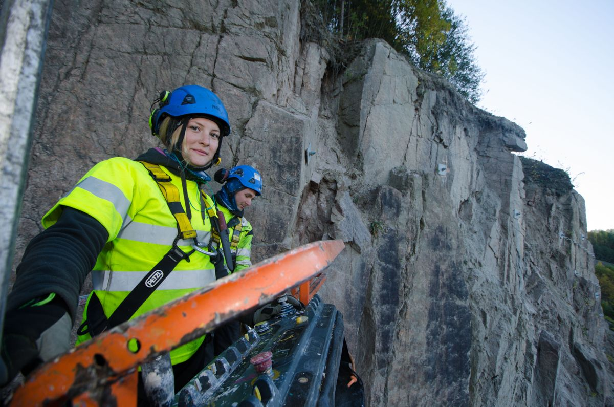 Ingrid Skårnes og Lars Skjærseth i Gjerden Fjellsikring.