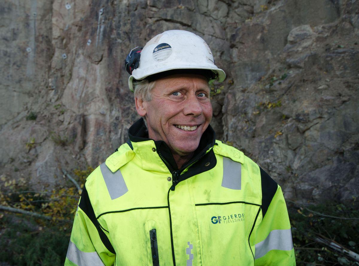 Lærlingansvarlig og anleggsleder Gyrd Aksel Thoresen i Gjerden Fjellsikring.