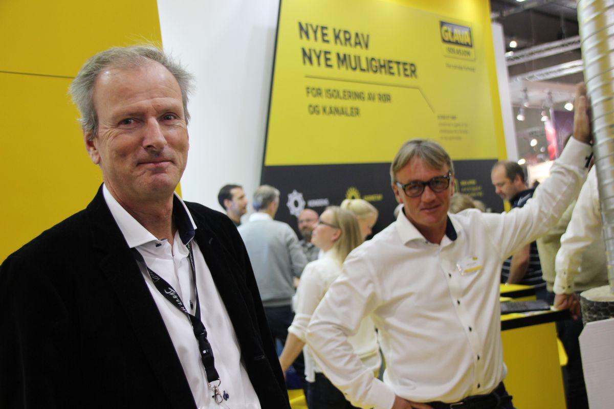 Lars F. Kolbu og Jan-Thore Oseth fra Glava på VVS-dagene 2016. Foto: Svanhild Blakstad