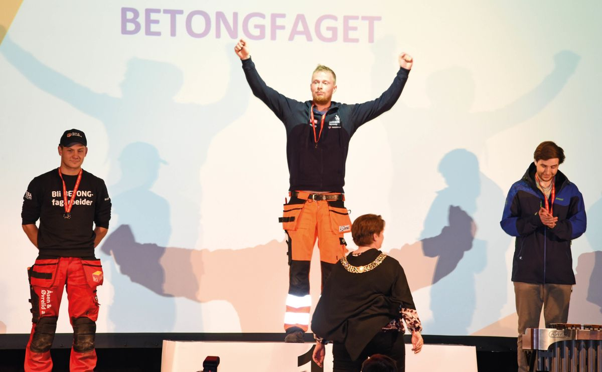 Sebastian Schuurmann Hess fra Stoltz Entreprenør under konkurransen i Yrkes-NM.