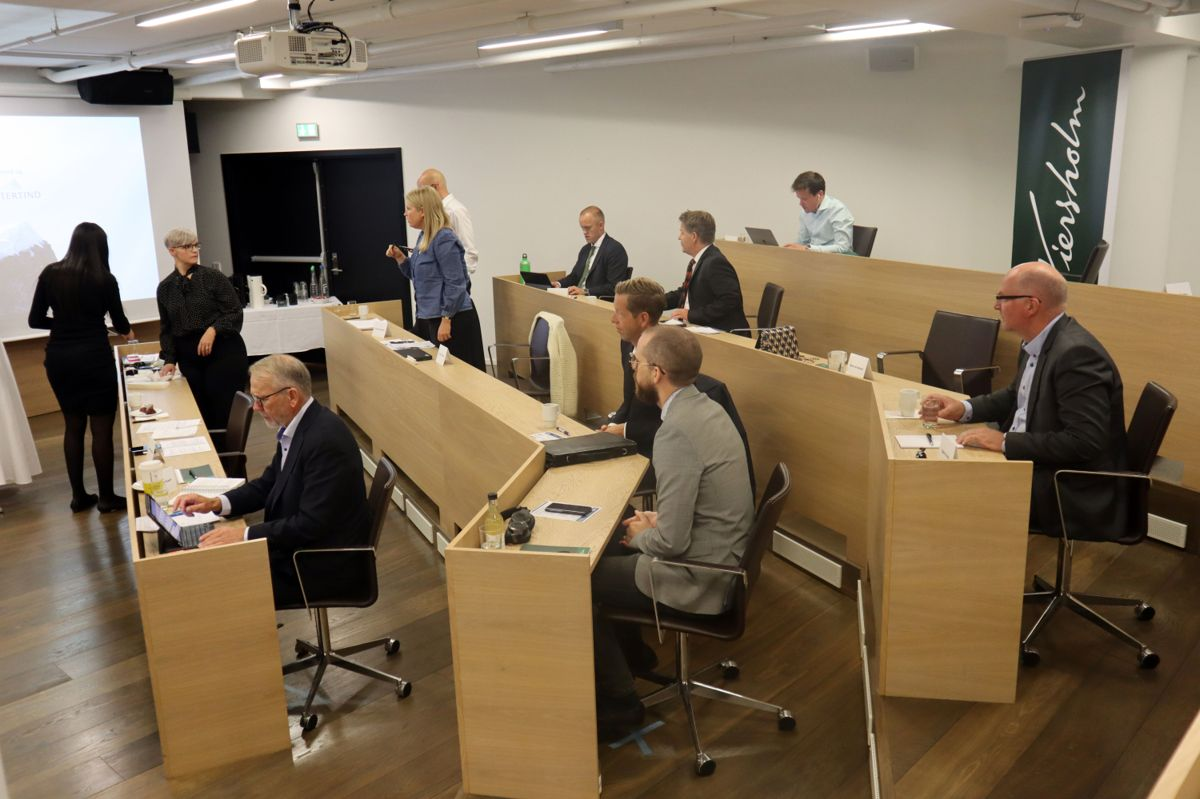 Entrepriserettsseminar 2020. Fra Wiersholms lokaler på Aker Brygge.