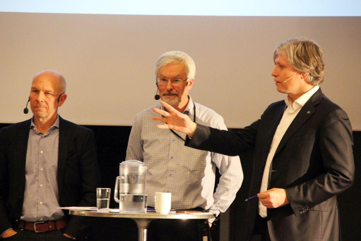 Fra paneldebatten om overvannshåndtering på Ingeniørenes Hus i Oslo 7. november. Foto: Svanhild Blakstad