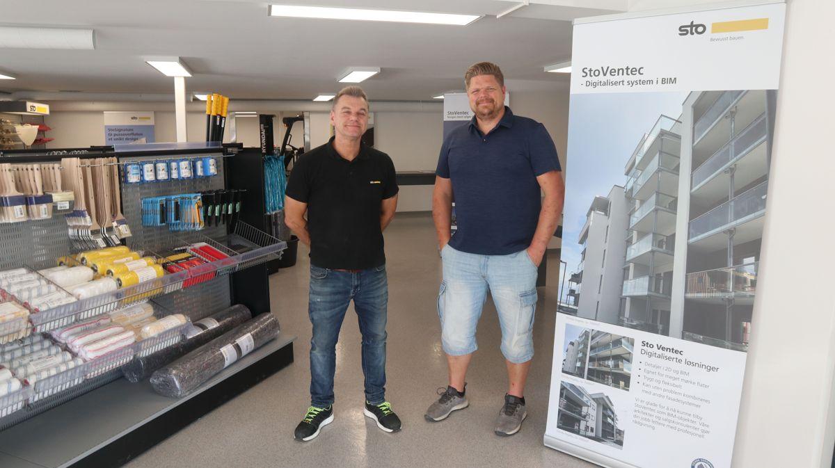 Jan Erik Ovesen (t.v.) og Andre Tømmerbakk har begge lang erfaring fra byggebransjen, og skal bemanne avdelingen i Trondheim.