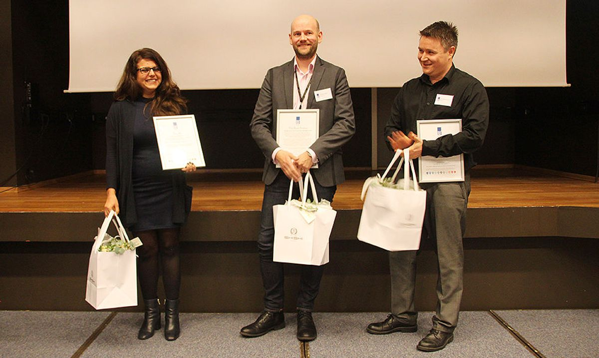Fageksperten Jon Arild Westlund-Storm fra COWI og prosjekteringslederen Nils Ånund Smeland fra Multiconsult var Ivans konkurrenter om tittelen