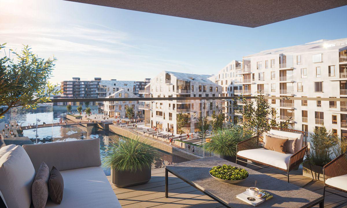 Clemenskvartalet i Bjørvika. Illustrasjon: Oslo S Utvikling / MAD arkitekter / Rift