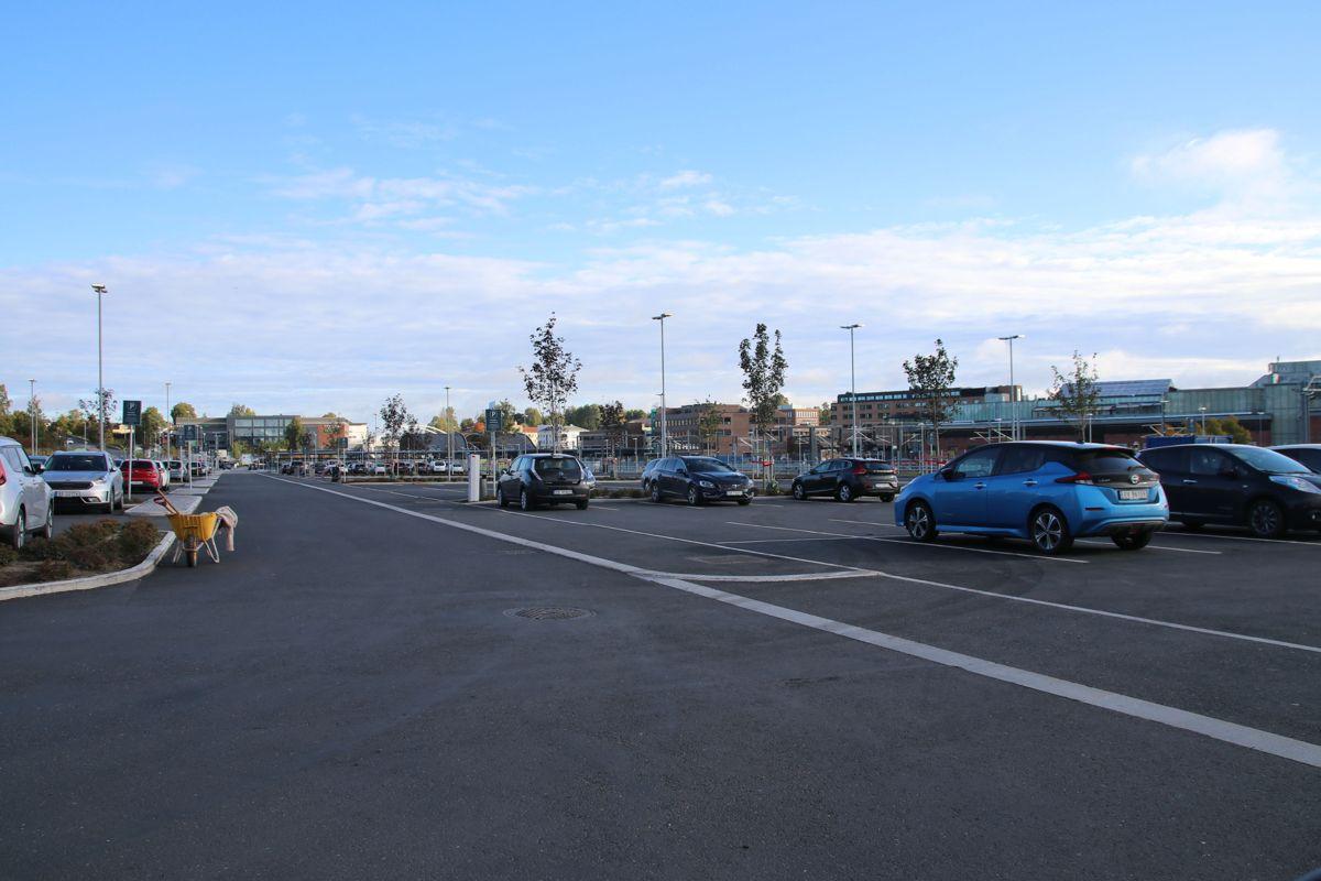 Vil ha bolig- og næringsbygg på den nyetablerte parkeringsplassen.