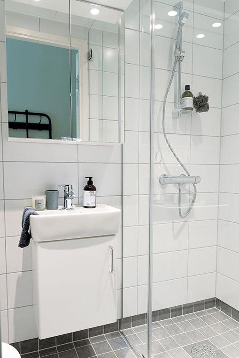 Leilighetene har moderne bad. Foto: Ingrid Aune Westrum/SSN