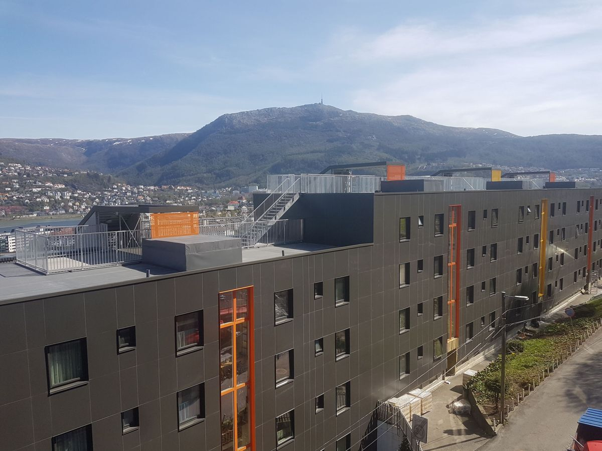Solheimslien borettslag i Bergen. Foto: Arkitektgruppen Cubus