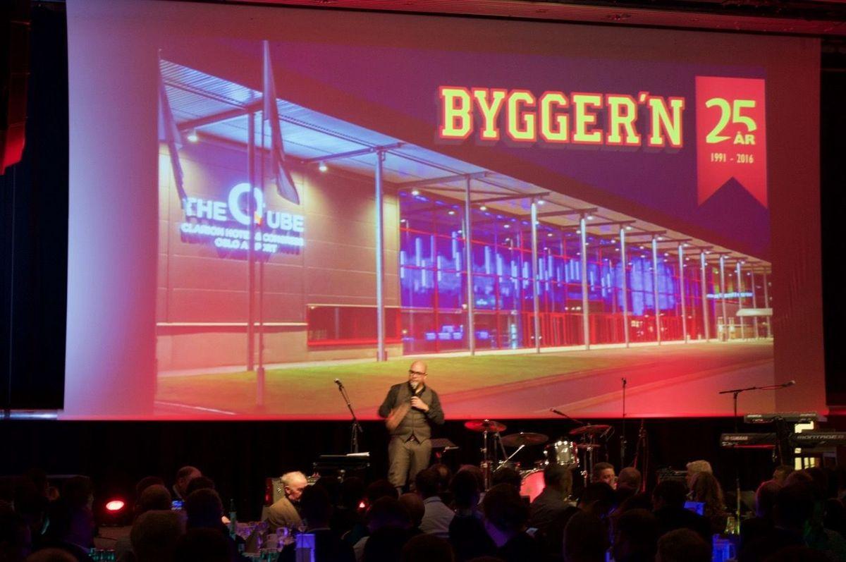 Johan Golden var toasmaster under festmiddagen. Foto: Bygger'n