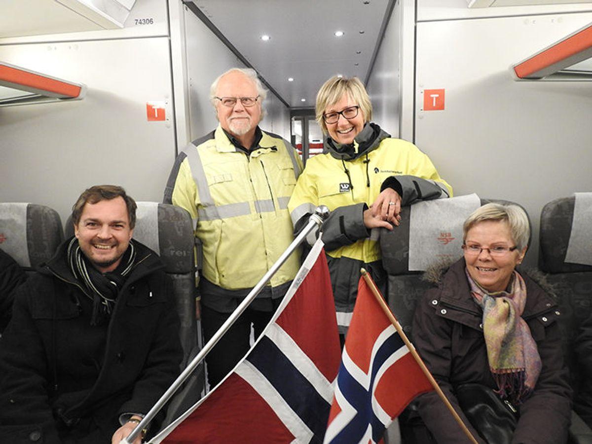 Tor Kleiven (fra venstre), Knut edmund Knutsen, Stine Ilebrekke Undrum og Synøve Neperud.Foto: Trine Evensen